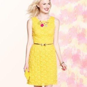 Merona Bright Yellow Lace Dress